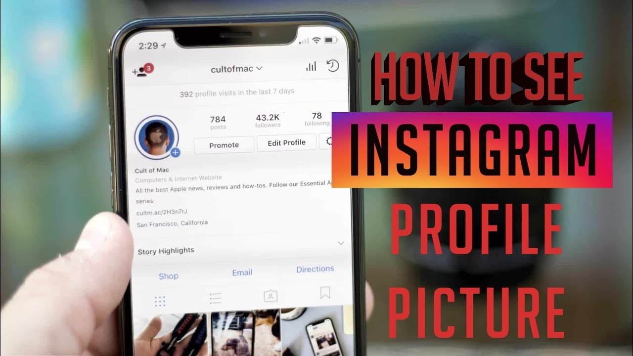 How to view Instagram Profile Picture - InstaDP - Hygh Media